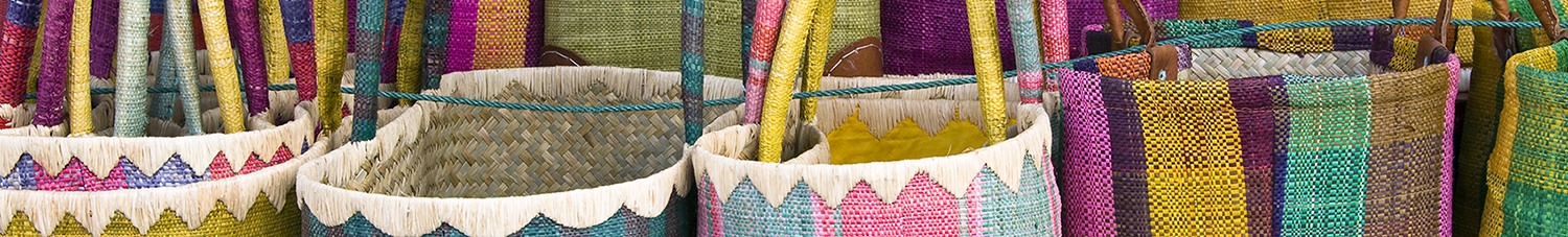 Image of colored baskets
