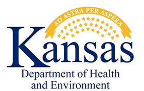 Kansas Department of Health and Environment logo.