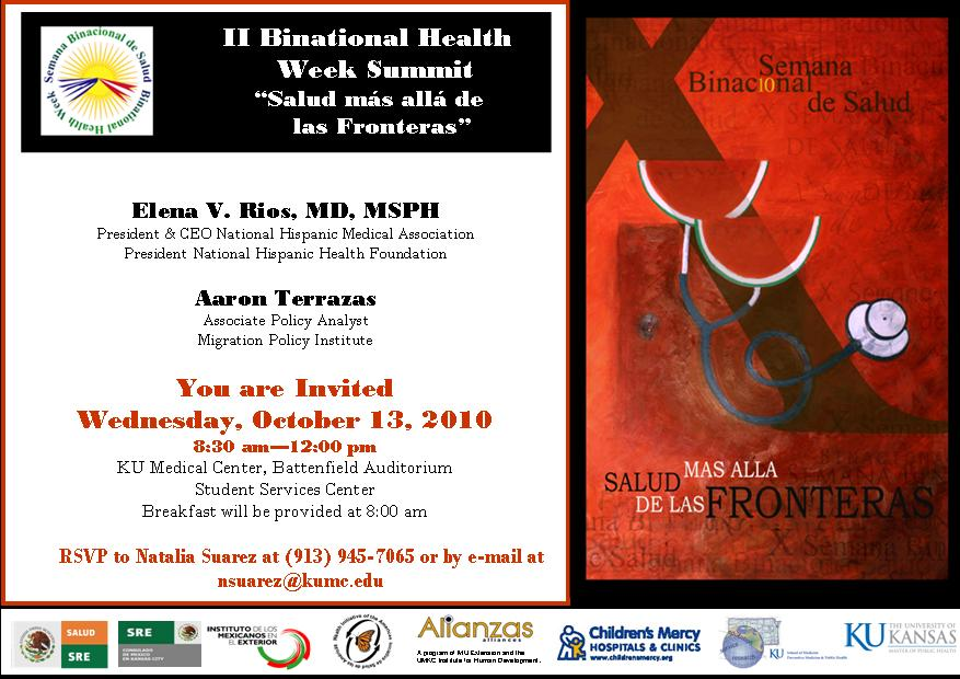 Announcements binational health week summit invitation please open attachment if you cannot see the image stopboris Gallery